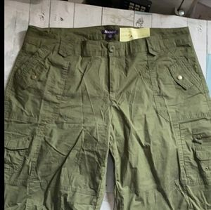 Vintage High Waisted Olive Green Plus Shorts